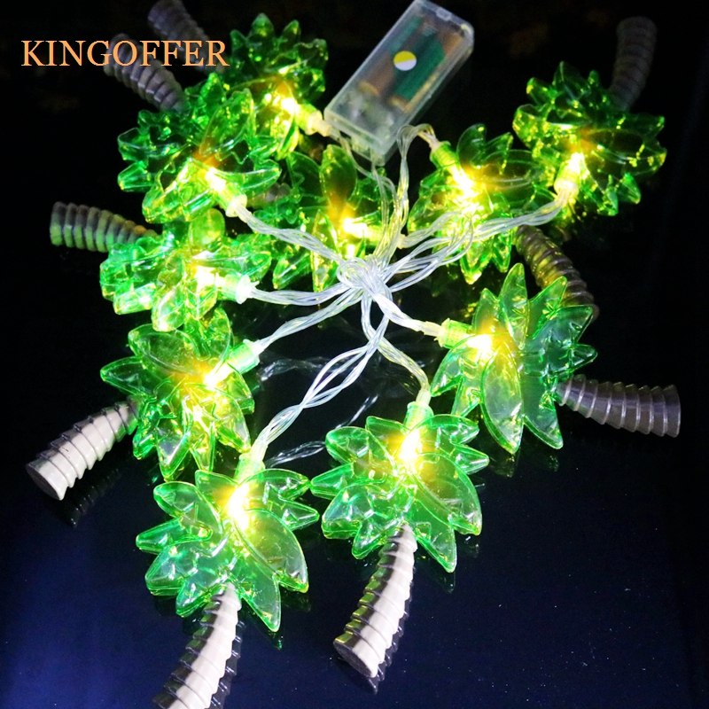 Kingoffer Coconut Tree LED String Light 1.6M 10LEDs Party Lamps Christmas  Halloween Home Wall Window - Compare Prices On Halloween Window Lights- Online Shopping/Buy Low