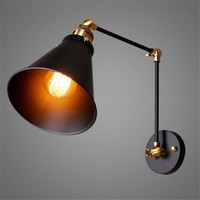 American Country Style Wall Light E27 Loft Industry Collapsible Telescoping Pole Double Living Room Sofa Backdrop