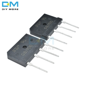 5PCS GBJ1510 1000V 15A Diode Bridge Rectifier Single Phase Bridge Rectifier IC Chip Through Hole Diy Electronic