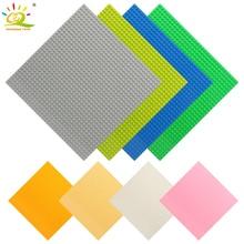 8 colores 32 * 32 puntos placa base para ladrillos pequeños placa base DIY bloques de construcción Compatible Legoing ladrillos juguetes para niños