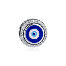цены Beads for Jewelry Making Charms Silver 925 Original Evil Eye 925 Silver Charm Women Jewelry Fits Pandora Bracelet Wholesale