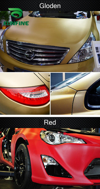 KUNFINE 3D Carbon Fiber Vinyl Car Wrap Car stickers and Decals Motorcycle Car Styling Accessories Waterproof 1