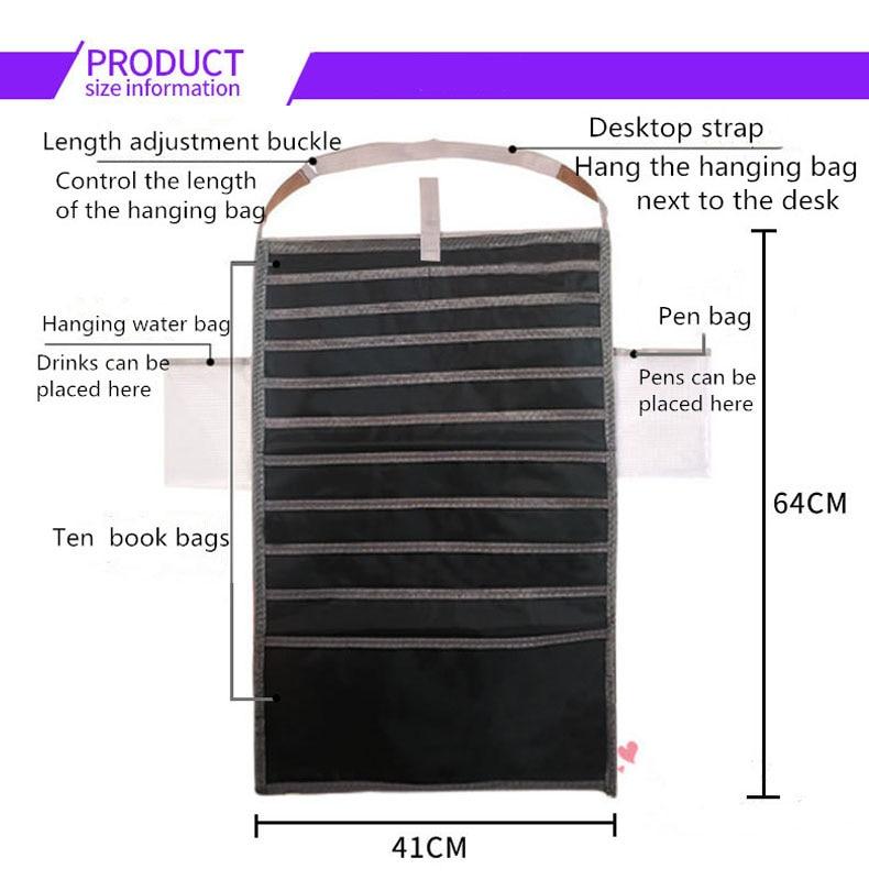 Многофункциональная подвесная сумка для книг, Студенческая сумка для хранения книг, регулируемая сумка для хранения книг, органайзер для книг