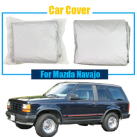 Cawanerl Car Cover SUV Anti UV Sun Rain Snow Scratch Resistant Cover Sun Shade Dust Proof For Mazda Navajo