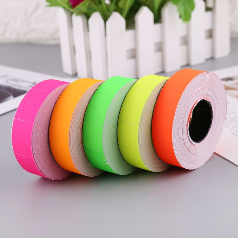 10Rolls 5000 Pieces Price Labels Double Row Colorful Price Label Paper Tag Mark Sticker For MX-6600 Labeller Gun