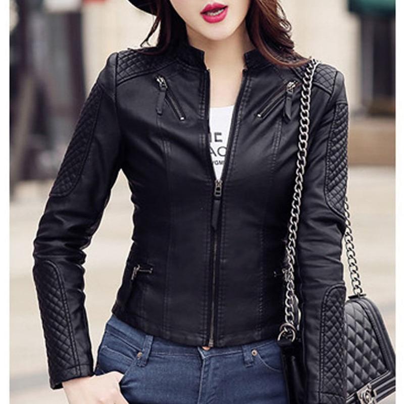 New Womens Ladies Biker Jacket Crop Faux Leather PVC PU Gold Button ZIP Coat Top