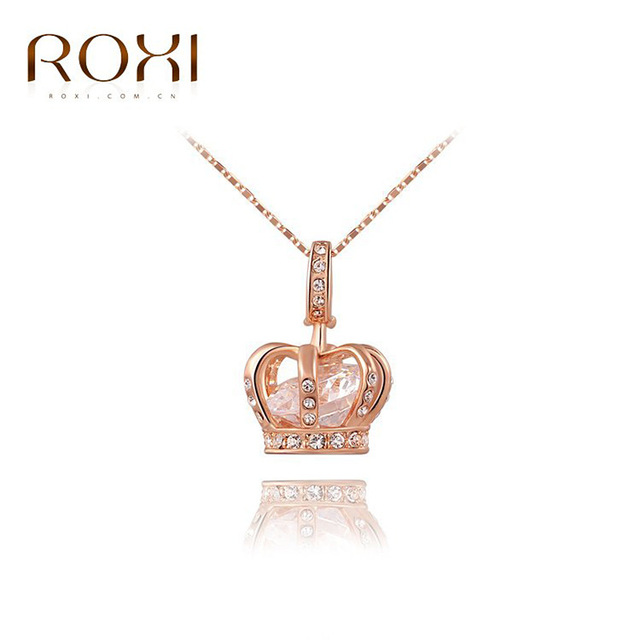 ROXI rose gold pendant jewelry wholesale luxury Crown Necklacein