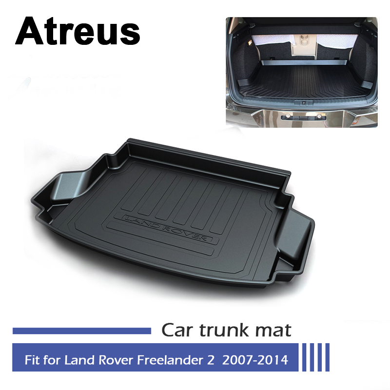 Atreus Car Waterproof Trunk Mat Tray Floor Carpet Pad For Land Rover Freelander 2 L359 2007 2008 2009 2010 2011 2012 2013 2014 for hyundai tucson 2006 2007 2008 2009 2010 2011 2012 2013 2014 waterproof anti slip car trunk mat tray floor carpet pad