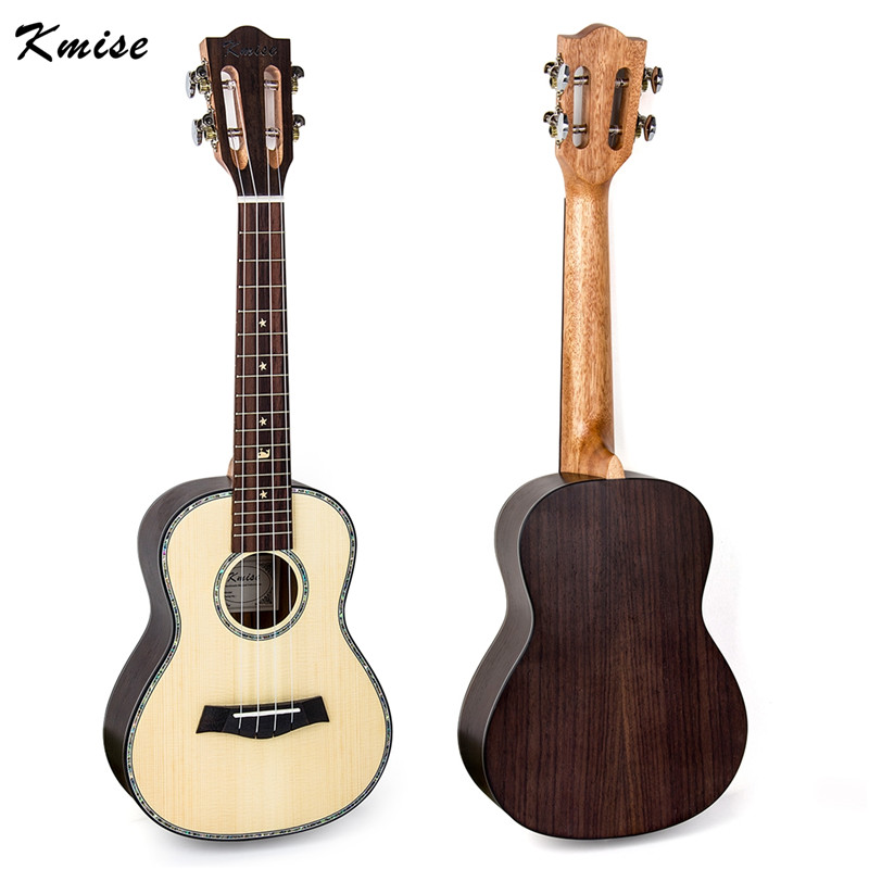Kmise Concert Classical Ukulele Solid Spruce Rosewood 23 Ukelele Hawaii Guitar