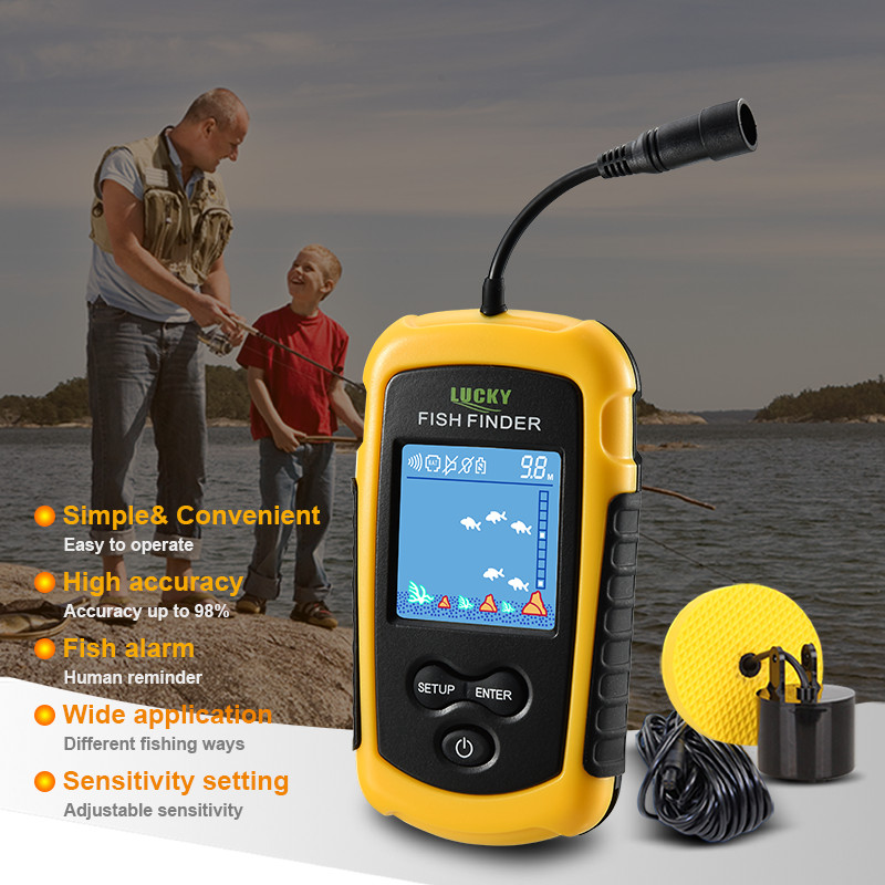 Fish Finder Sonar Finderfish Echo Sounder Sensor FindFish FFC1108 1 with Color Display High Definition Deeper Lure FishingFinder|Fish Finders| |  - title=
