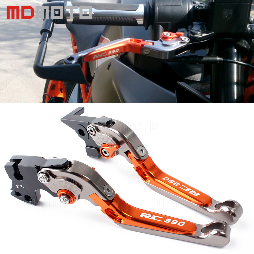 Motorcycle CNC Foldable&Extendable Brake Clutch Levers For KTM Duke 390 RC390 RC 390 2013 2014 2015-2017 2018 Brake accessories for ktm rc390 rc200 rc125 125 duke high quality motorcycle cnc foldable extending brake clutch levers folding extendable lever