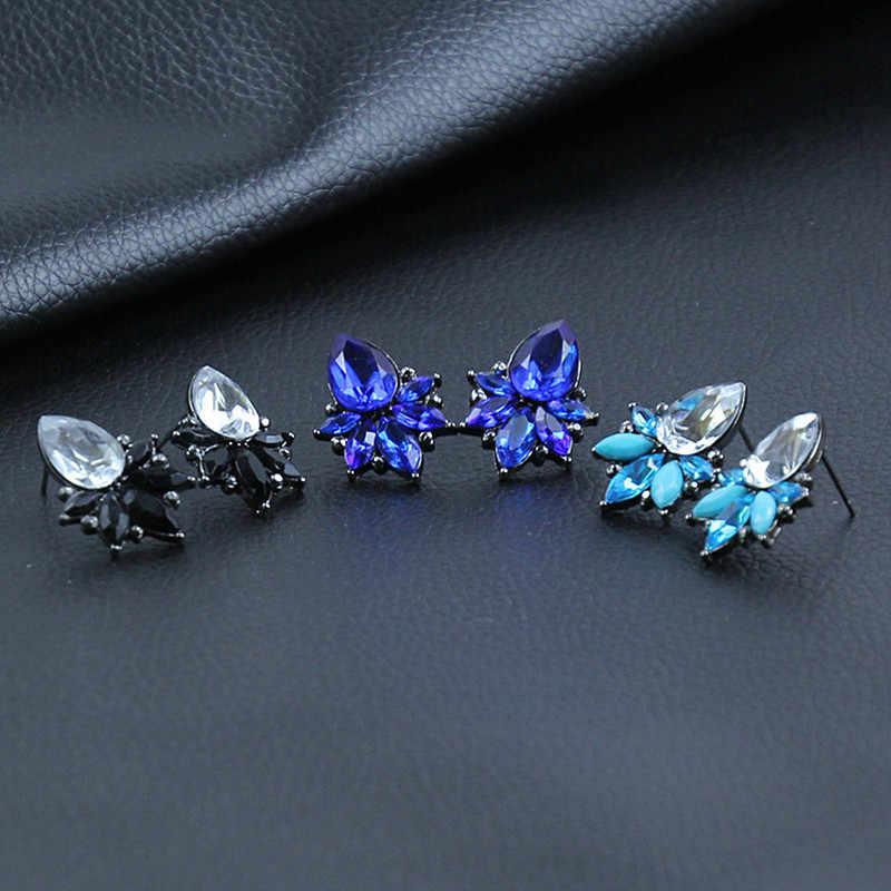 E0223 mode bijoux fleur Design cristal boucles d'oreilles pour femmes Vintage fête de mariage bijoux 2017 élégant dame en gros