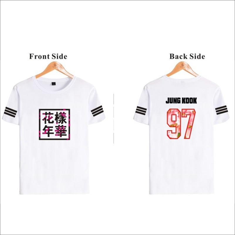 Letter Print T shirt Women Plus Size Korean BTS Loose