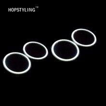 цена на Super Bright 4pcs SMD Led Ring angel eyes for BMW E46 2D 2004/E87 E46 CABRIO 106mm Halo Ring Angel Eyes Led Headlights Lamp