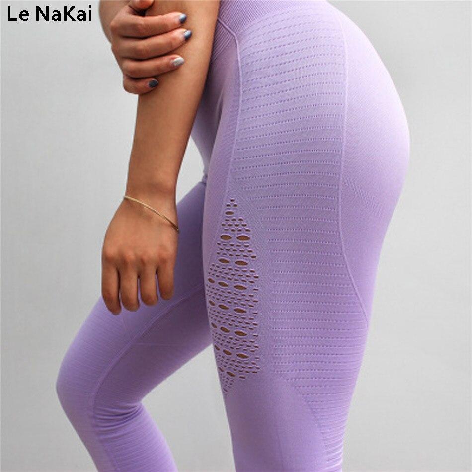 5fc3718088bd2 High Waist Seamless Yoga Pants Workout Black Gym Leggings Squat proof  Stretchy Pencil pants Fitness Women sport scrunch leggings