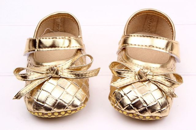f451acff2e41c ... PU Leather Baby Girl Shoes Rhombus Gold Baby Moccasins Moccs Shoes
