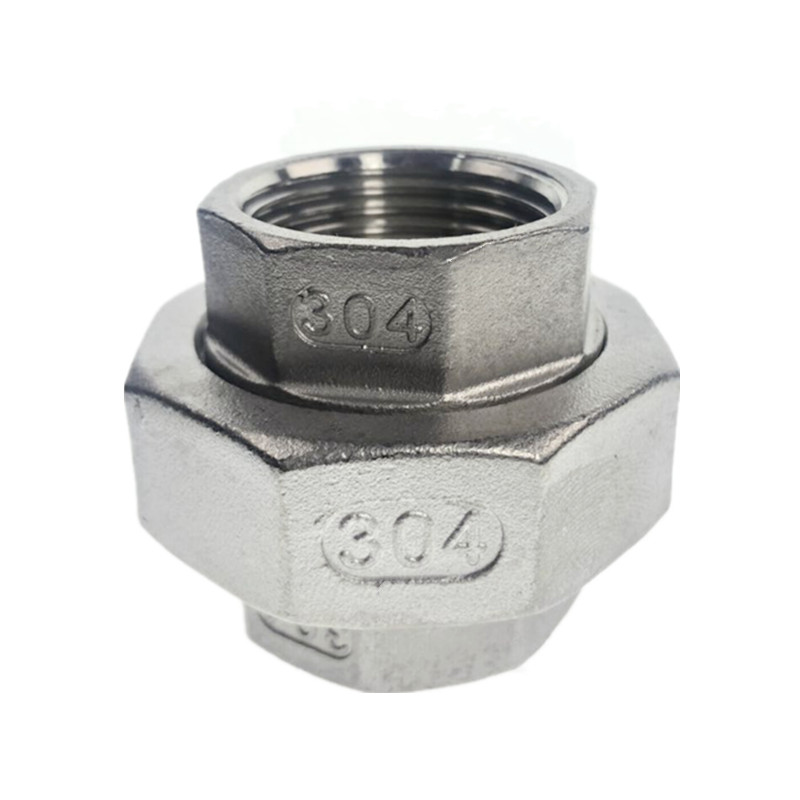 1/8'' - 4'' BSPT Female Threaded Union Stainless Steel 304 Cast Pipe Fitting Class 150