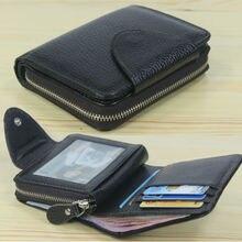 Fashion Men wallets Genuine Leather Wallet Men Purse male wa