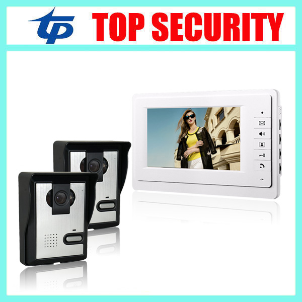 7 inch video door phone intercom wired door bell system IP64 waterproof IR night version camera color screen video door phone jeatone 7 inch wired video door phone video intercom hands free intercom system with waterproof outdoor ir night camera