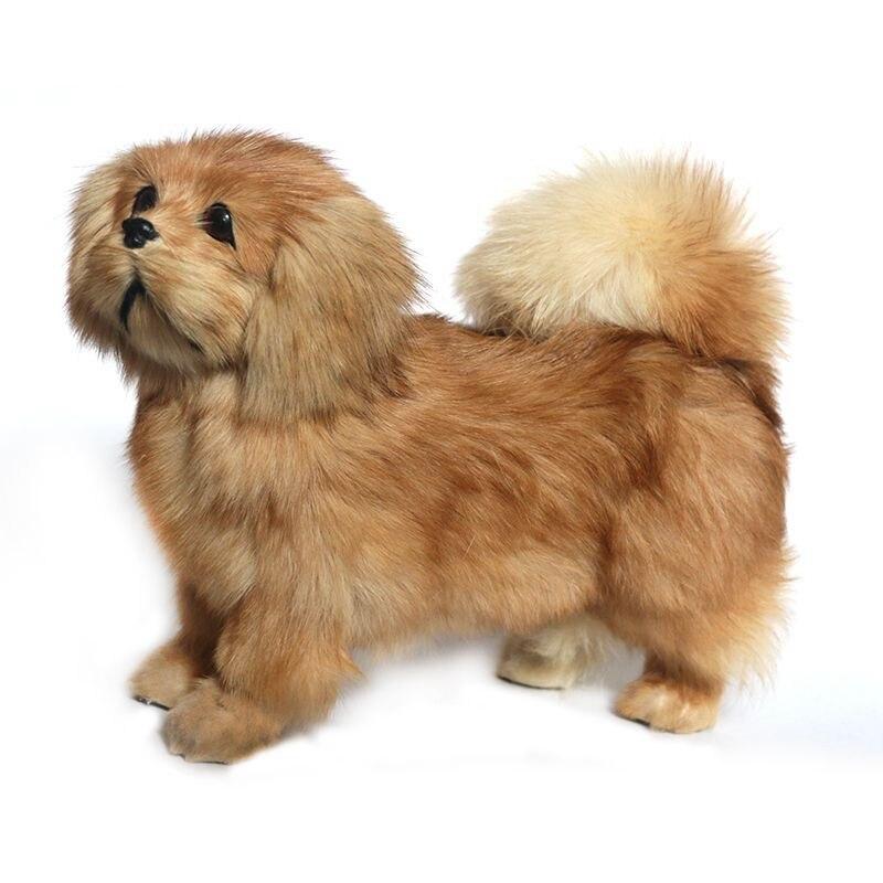 Faithful Dorimytrader Cuddly Likelike Animal Pekingese Plush Toy Stuffed Soft Relistic Poodle Toy Pet Dog Decoration Gift 20x26cm Dy80009 Elegant In Style Toys & Hobbies Stuffed & Plush Animals