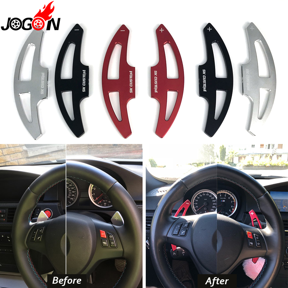 Metal Alloy Car Steering Wheel Paddle Extension Shifter Replacement For BMW 3 Series E90 E92 E93