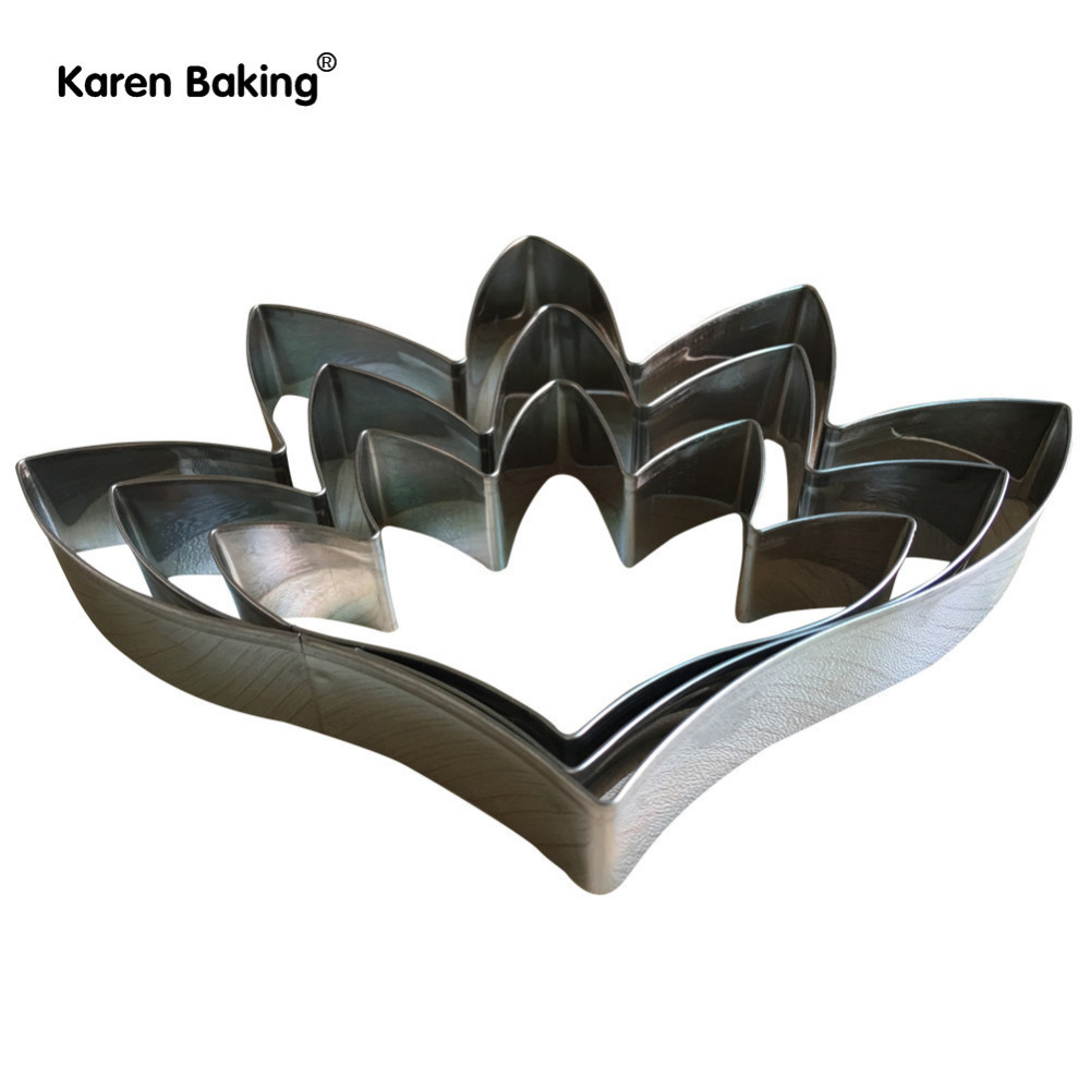Tuberose Flowers Making Mold Stainless Steel Cutters Sets Cake