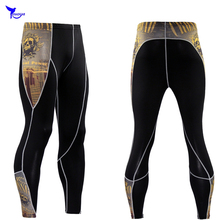 2018 Men Compression Pants New Fashion Print Quick Dry Skinny Bodysuit Leggings Tights Fitness MMA Rashguard Trousers Elasticity