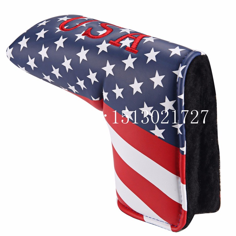 USA Flag Blade Putter Cover Headcover For Scotty Cameron Taylormade Odyssey Velcro Closure