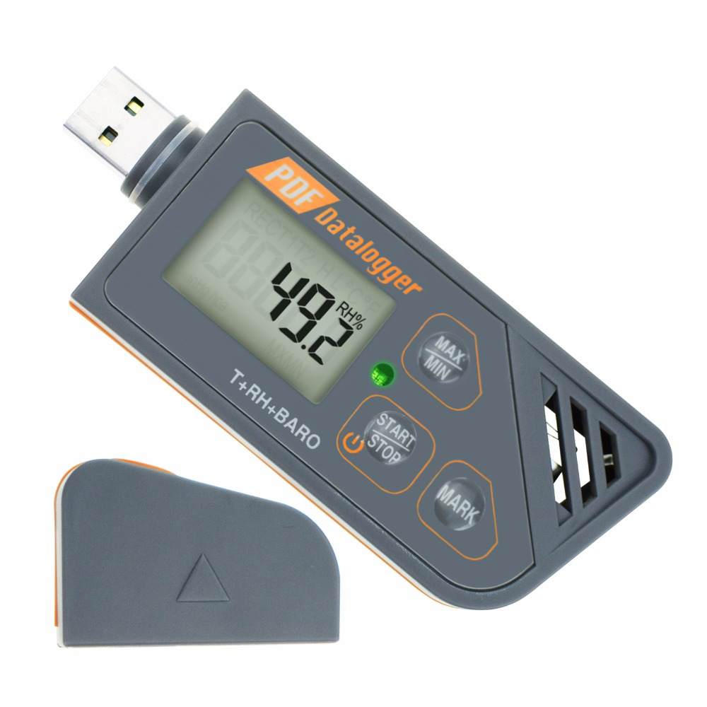 Digital USB Datalogger Humidity Temperature Pressure Barometric Logger Generate PDF Excel Support Windows 7 8 10