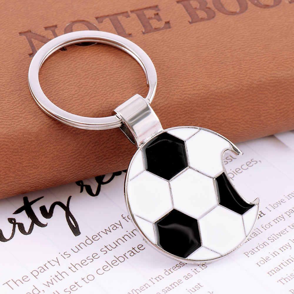 Футбол футбольная открывалка брелок для ключей для Для мужчин капли масла металлический Pendat брелок для ключей «нота» ювелирные изделия подарок на день отца