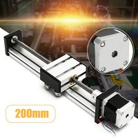 200mm Slide Stroke CNC Linear Motion Lead Screw Slide Stage Stroke 42 Actuator Stepper Motor For