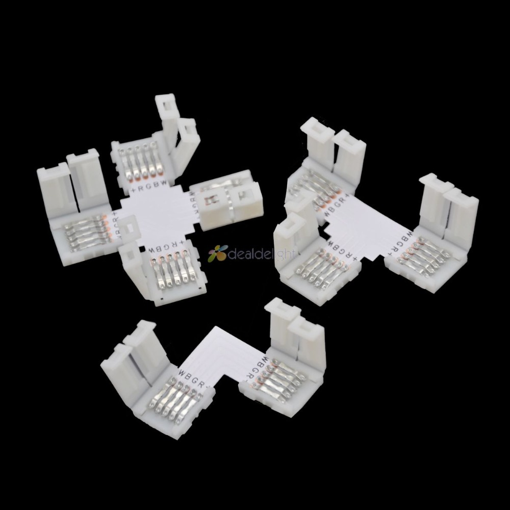 5pcs-10mm-5-pin-rgbw-l-shape-x-shape-t-shape-no-soldering-connector-for-5050-rgbw-rgbww-led-strip-5pin-rgbw-connector