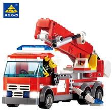 244Pcs City Fire Trucks Building Blocks Sets Figures Technic Bricks Playmobil Educational Toys for Children цены онлайн