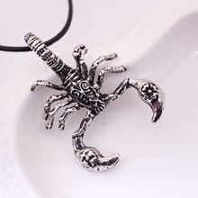 Fashion Retro Punk titanium steel Scorpion Pendant Necklace For Men Personality Animal choker necklace Wholesale Free Shipping