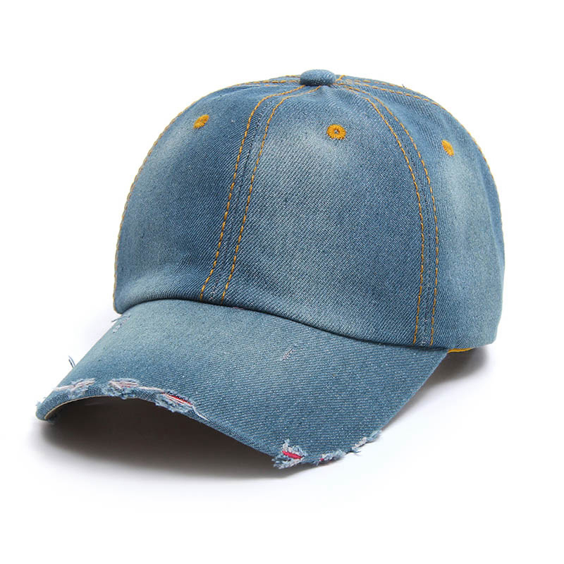 New Hot Sale Solid Jean Baseball Caps for Women Summer Cap Female Snapback  Hats Adjustable Cotton Gorros Boys Girls Denim Caps-in Baseball Caps from  Apparel ... 04124d4a35e