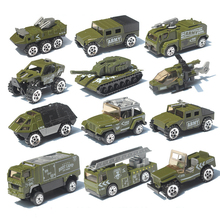 Alloy Car Set 1:87 Fire Military Model Simulation Vehicle Tank Aircraft A Machine Children Pocket Toy Gift Boy Toys