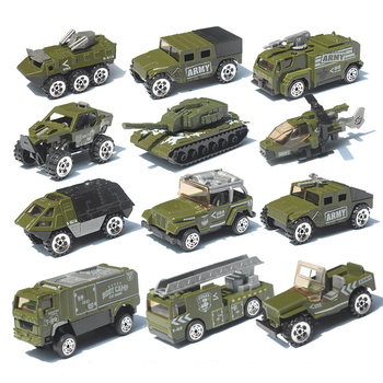 Alloy car combination set 1:87 fire military model car simulation vehicle tank aircraft children pocket toy gift Boy toy