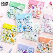45 unidades/pacote mohamm japonês decoracion diário bonito flor adesivos scrapbooking flocos artigos de papelaria material escolar tz101