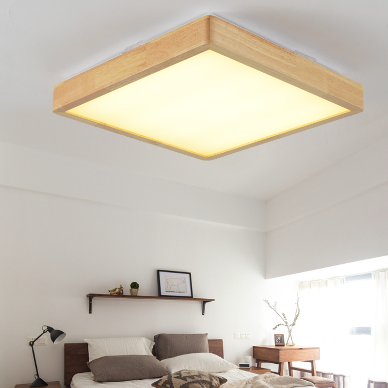 Norbic brief creative wood LED ceiling light fixture Japanese home deco living room acrylic ceiling lamp AC 110-240V modern japanese tatami wood octagon led ceiling lamp bried chinese home deco living room acrylic yurts ceiling light fixture
