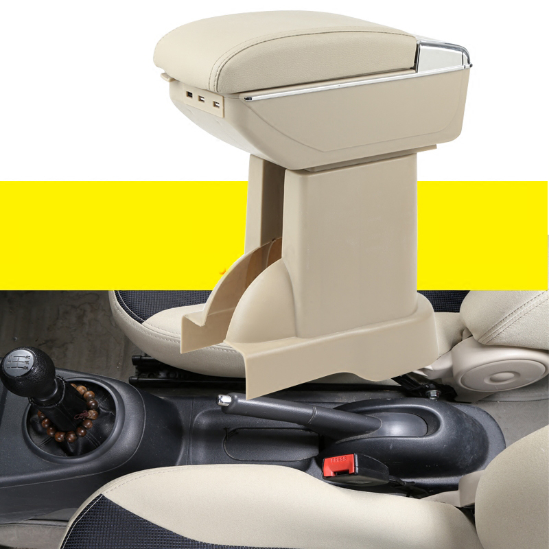 Car Armrest Central Store Content Storage Box with usb charge For suzuki alto Celerio Nissan Pixo 2009-2016 2015 2017 2014 2013