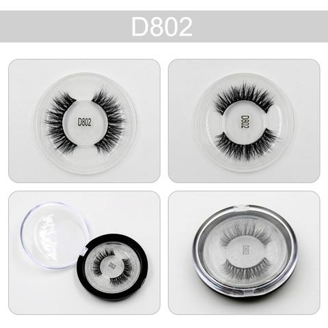 Mink Lashes 3D Lashes New Women Lady Natural Soft Black Fake Eye Lashes Handmade Thick Fake False Eyelashes Makeup Tools D802 Pakistan