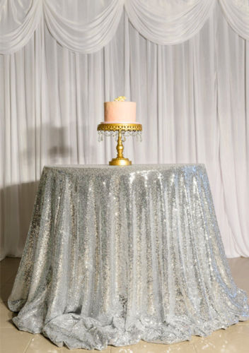 sparkly 90inch round silver sequin tablecloth choose your sizes u0026 color on sale