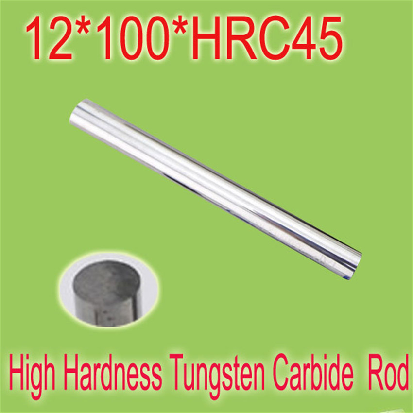 2pcs 12mm * 100mm HRC45  Cylindrical Tungsten Carbide Rod Grindering Raw Material Free Shipping 2pcs 10mm 100mm hrc55 cylindrical tungsten carbide rod grindering raw material free shipping to all countries