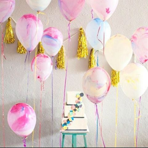 Thicken Agate Marble Balloon Multicolor Bachelorette Party Balloons Birthday Baloon Baby Shower Decoration Kids Party Supplie Islamabad