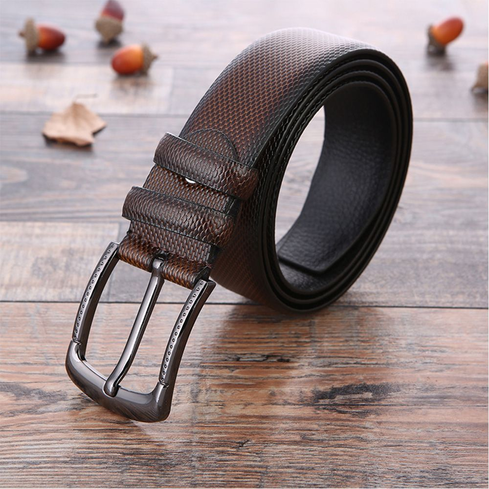 Back To Search Resultsapparel Accessories Hearty El Barco Leather Belt For Men Black Coffee High Quality Designer Male Belts Cowhide Luxury Brown Casual Waist Strap Pin Buckles