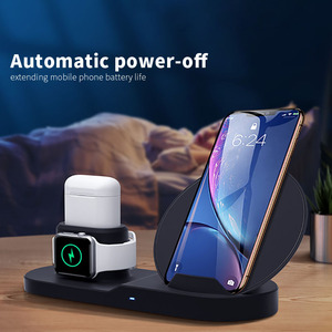 Image 3 - 3 in 1 Wireless Charger Stand for iPhone 8 X XR XS Wireless Charging Dock Station Magnetic Charger for Apple Watch 4 3 2 1 3in1