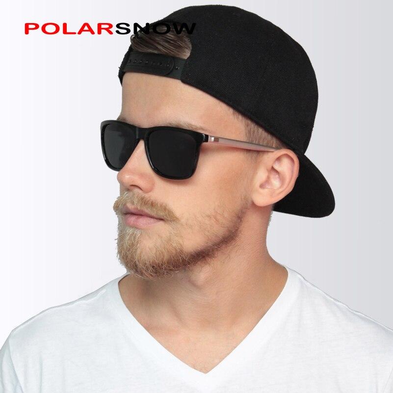 Polarsnow aluminio + tr90 Gafas de sol polarizadas hombres marca diseñador puntos mujeres/hombres vintage gafas conducción Sol Gafas