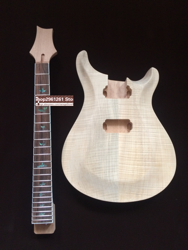 diy prs new project electric guitar kit with flame maple