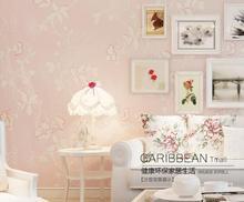 Rural Non-woven Wallpaper Embossed 3d Stereoscopic Romantic Bedroom Wallpaper Background Wallpaper Flocking Living Room цена 2017
