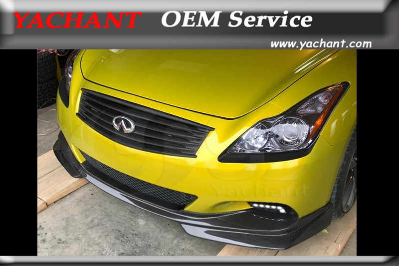 Car-Styling FRP Fiber Glass Front Bumper Lip Fit For 2008-2015 Infiniti V36 G37 Q60 2D Coupe YC Style Front Lip Splitter